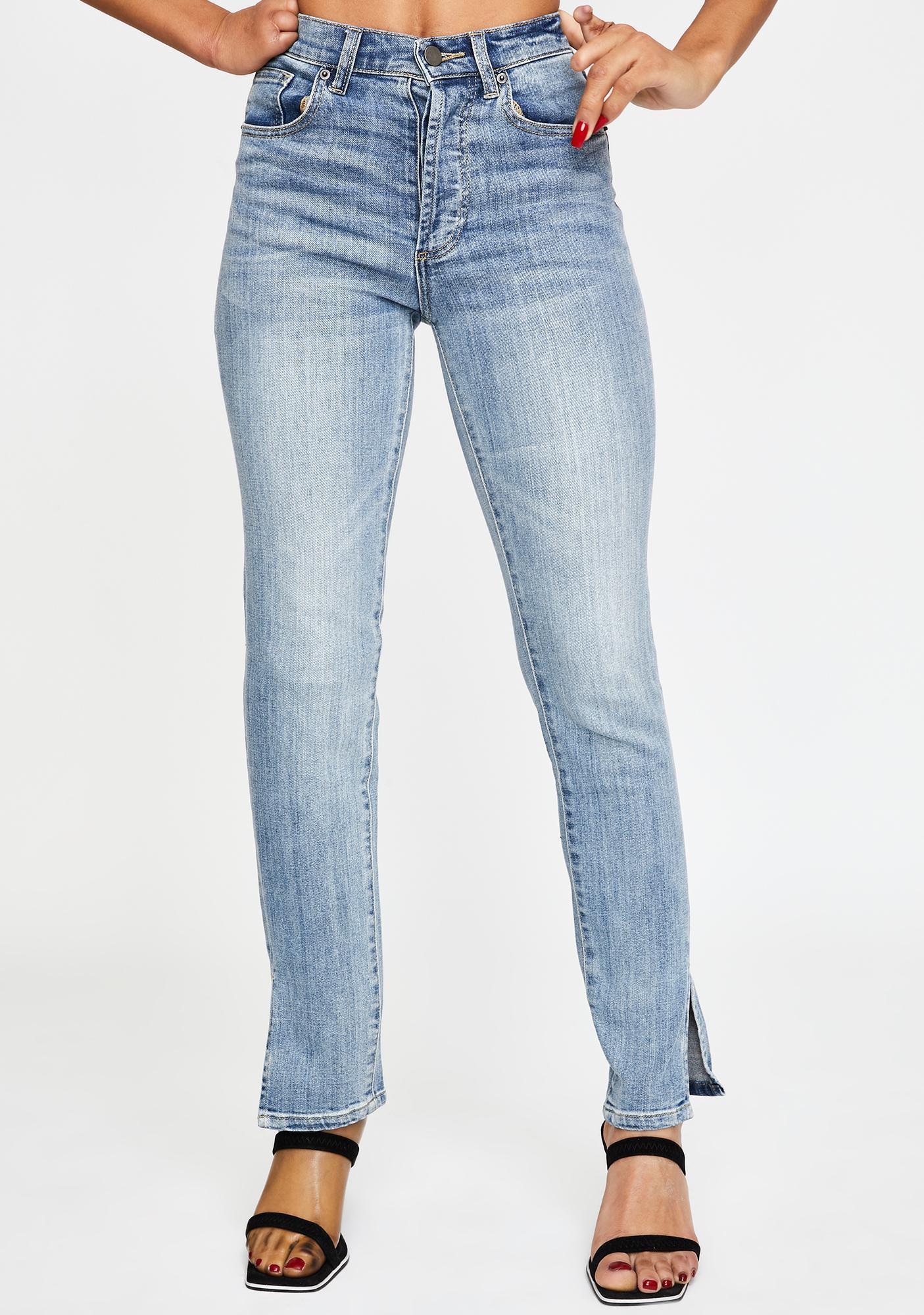 Oliver Logan Doheny Split Ankle Mom Jeans