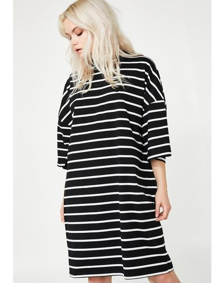LO Stripe Midnight Dress
