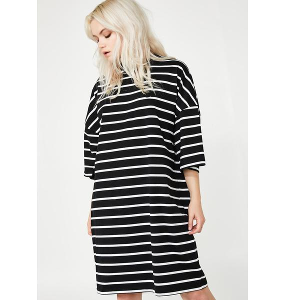 Lazy Oaf LO Stripe Midnight Dress