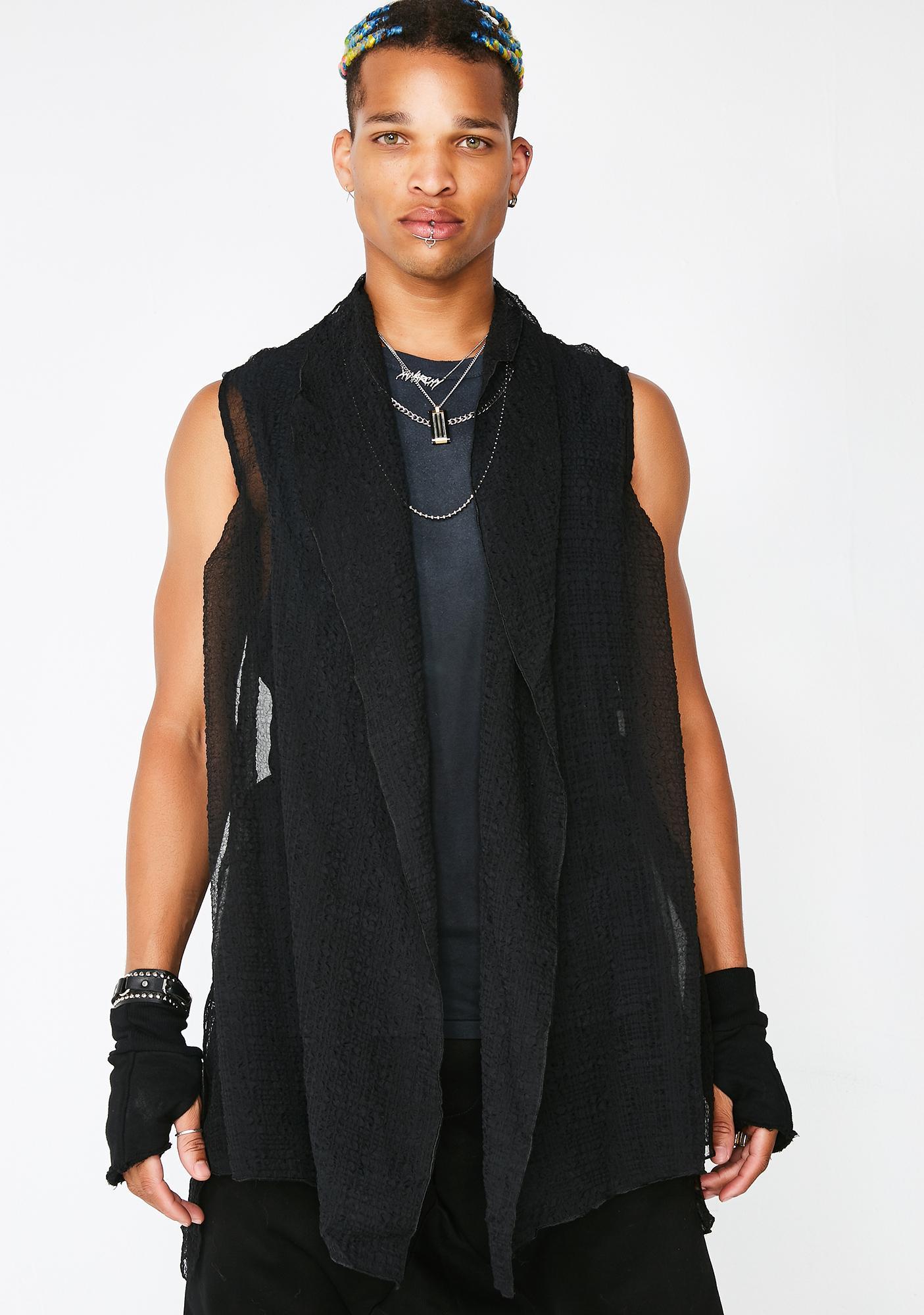 Matter of Black Chiffon Vest