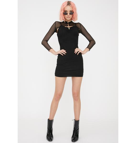 ZYA Black Gemini Dress Set