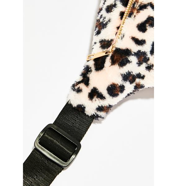 You're Fluffin' Me Leopard Fanny