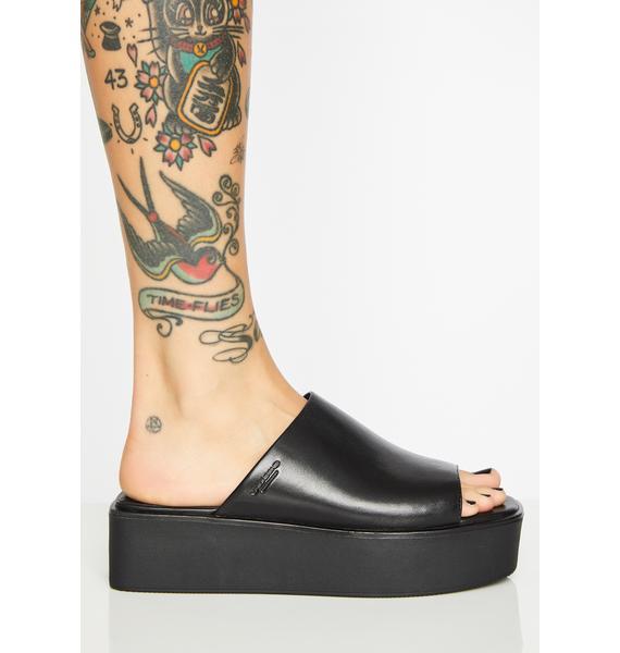 VAGABOND SHOEMAKERS Sin Bonnie Leather Platform Slides