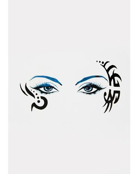 Mystic Tricks Temporary Eye Tattoo