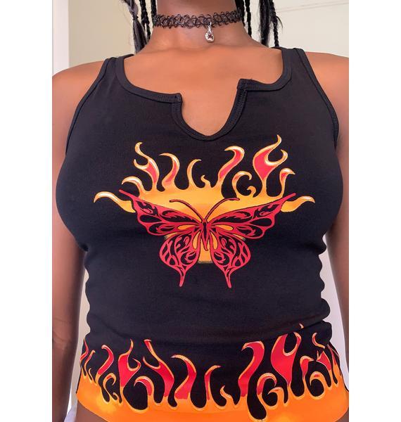 dELiA*s by Dolls Kill Burning Rubber Graphic Tank