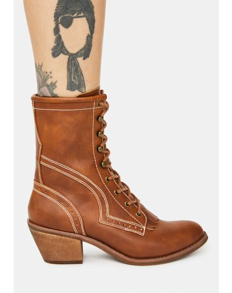 Song Of Sixpence Combat Boots