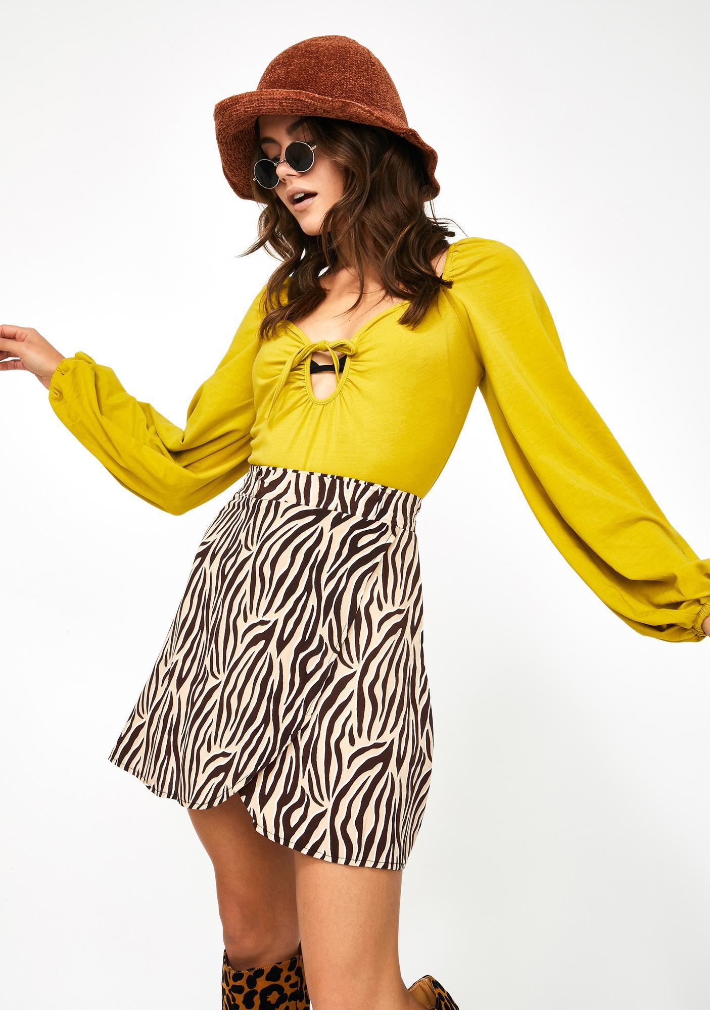 Glamorous Puff Sleeve Knit Bodysuit