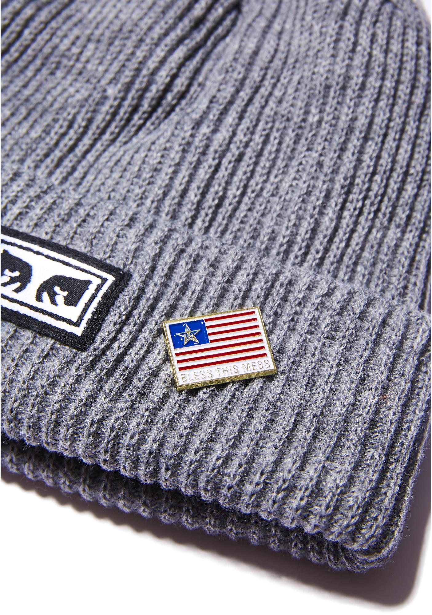 Obey Flag Pin