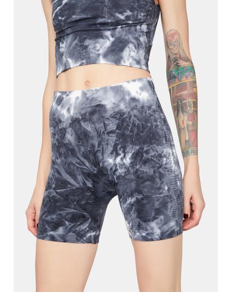 Sport Mode Tie Dye Biker Shorts