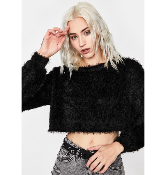 Midnight On Your Mind Crop Sweater
