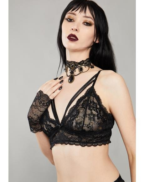 Kiss Of Midnight Lace Bra