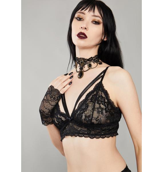 Widow Kiss Of Midnight Lace Bra