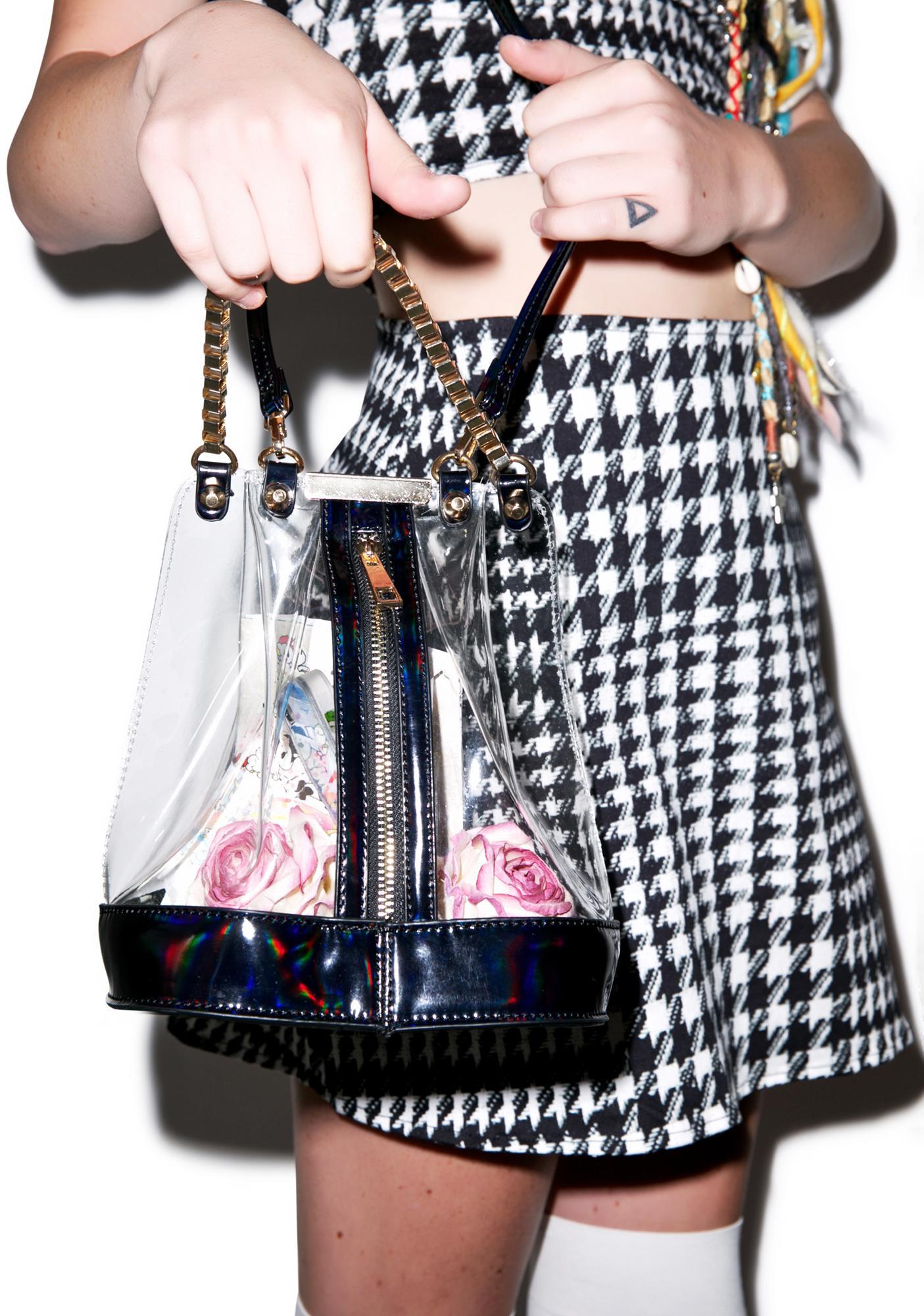 Vexed Clear Bucket Bag
