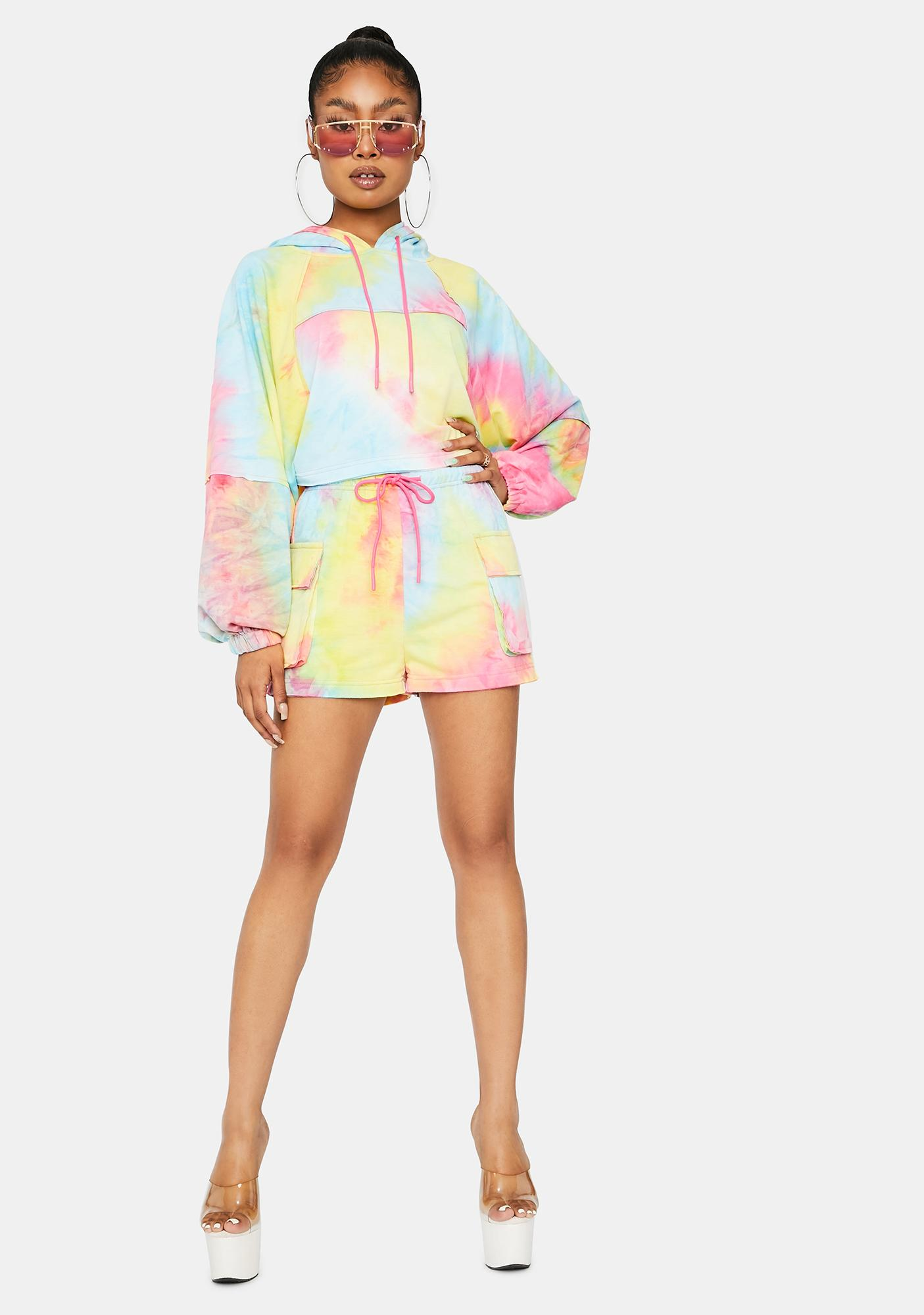 Stay Chillin' Hoodie Sweat Short Set