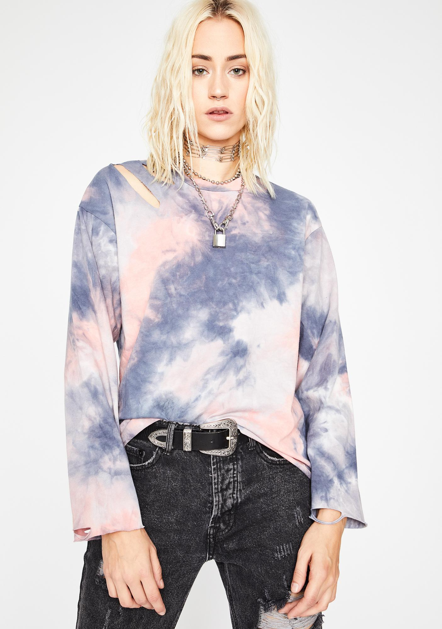 Sunset Cotton Candy Dreams Tie Dye Tee