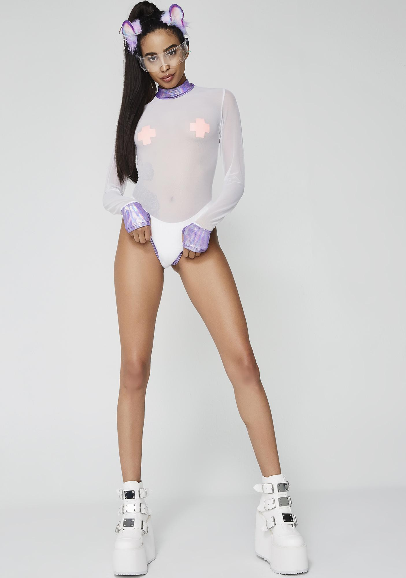 Pure Intergalactic Sass Sheer Bodysuit