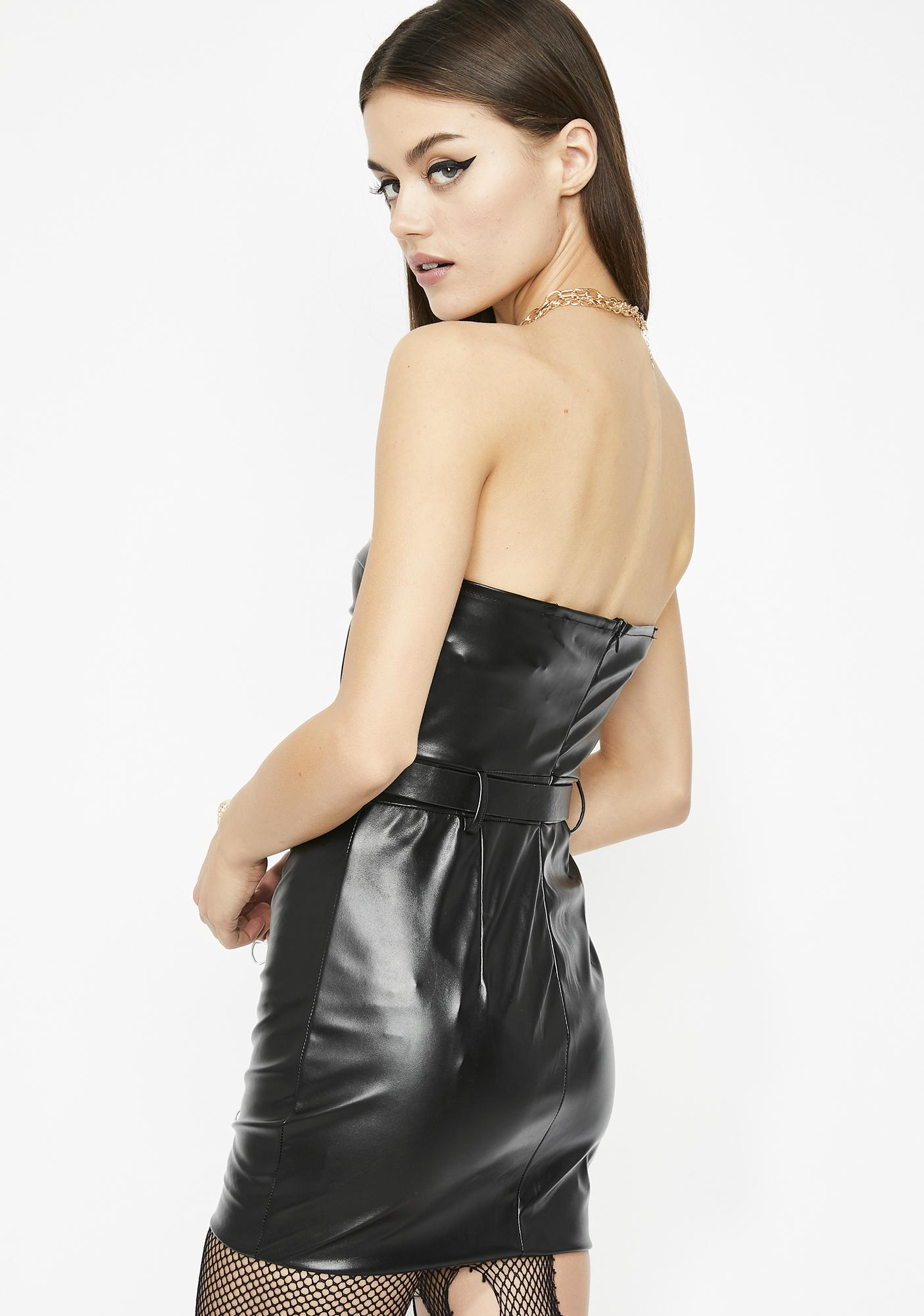 Moto Madness Leather Dress