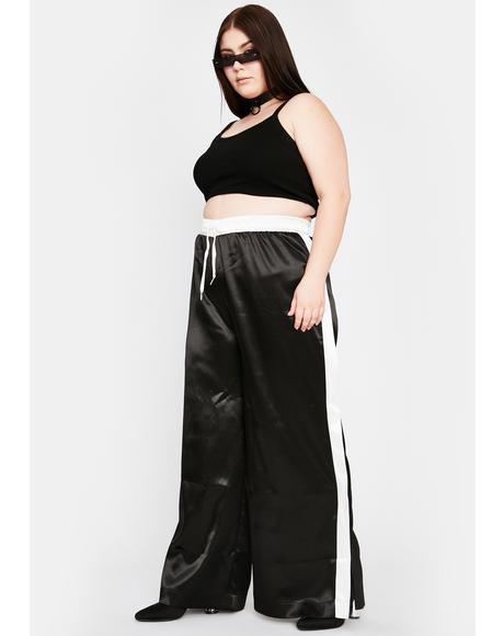 Wicked She's Sweet N Chic Satin Pants