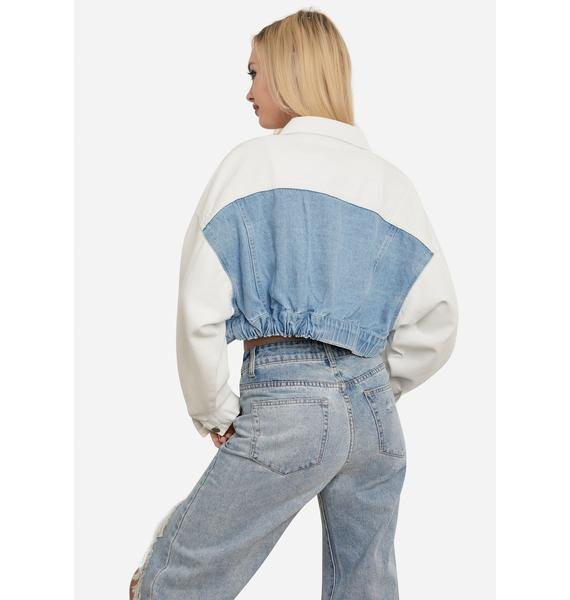 You Know It Two Tone Denim Jacket