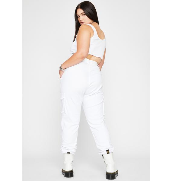 Mz Icy Talk Mean Cargo Joggers