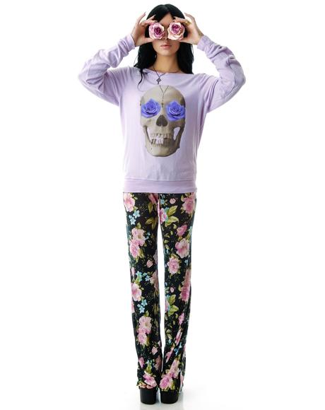 Skull and Roses Baggy Beach Jumper