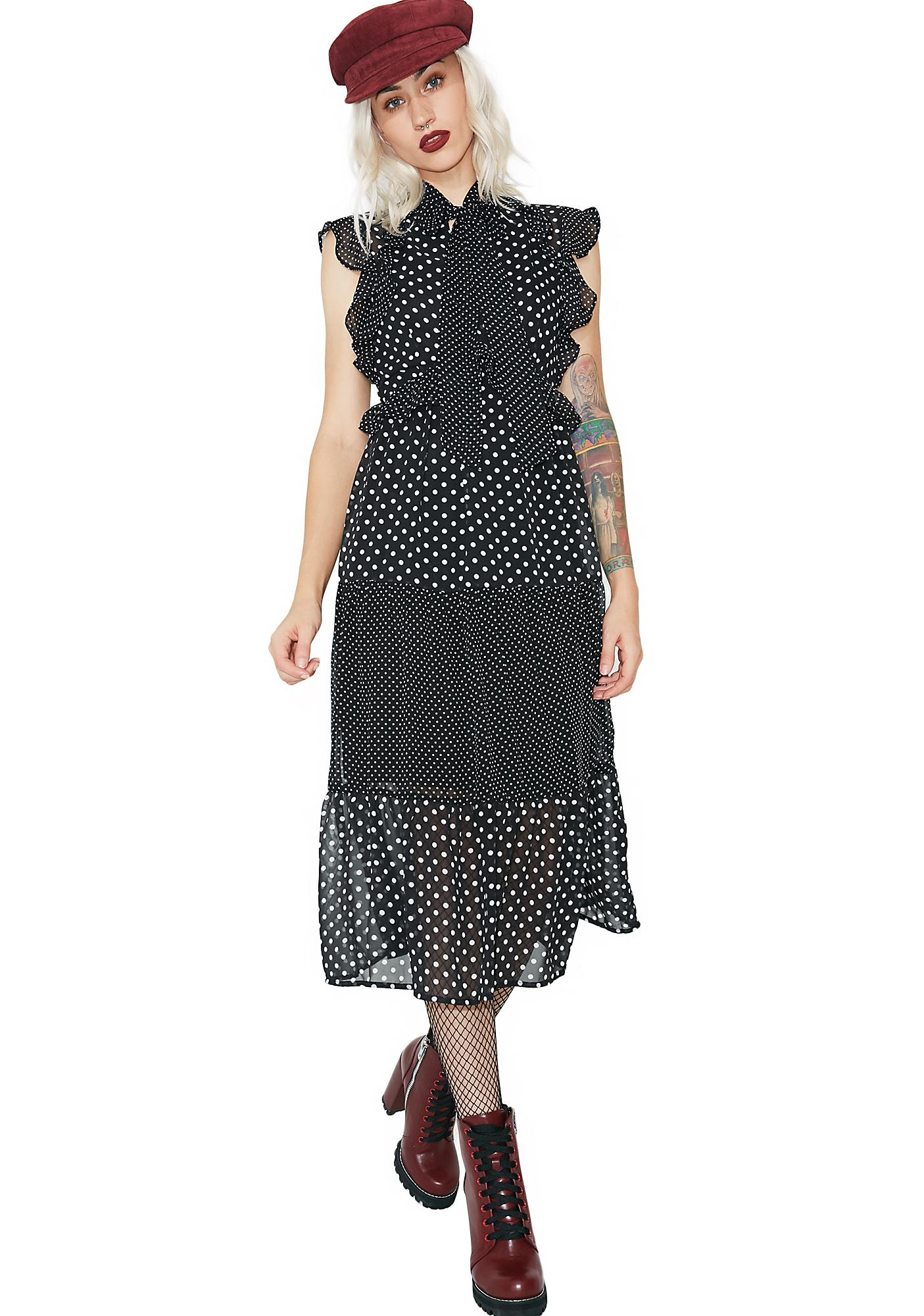 Gettin' Good Polka Dot Dress