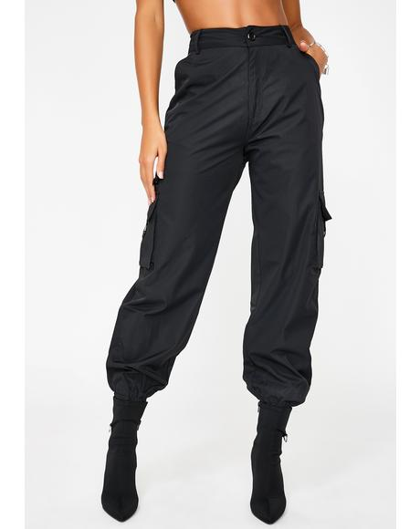 Black Matira Cargo Pants