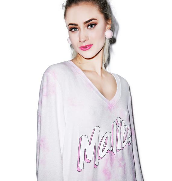 Wildfox Couture Malibu Beach V-Neck Baggy Beach Jumper
