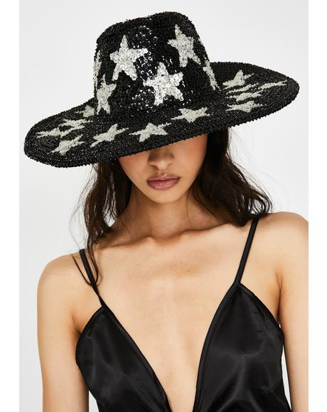 Sequin Star Hat