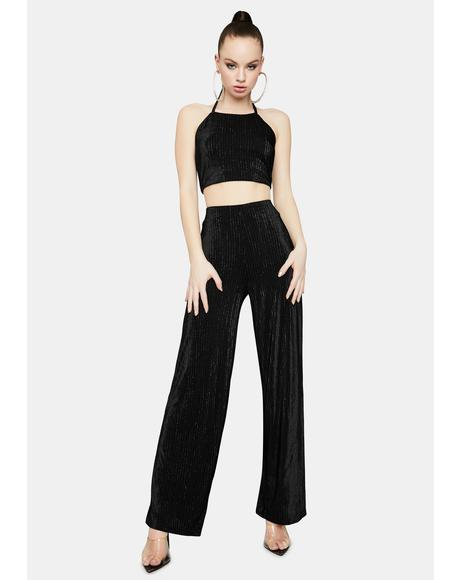 Back to Action Velvet Flare Pants