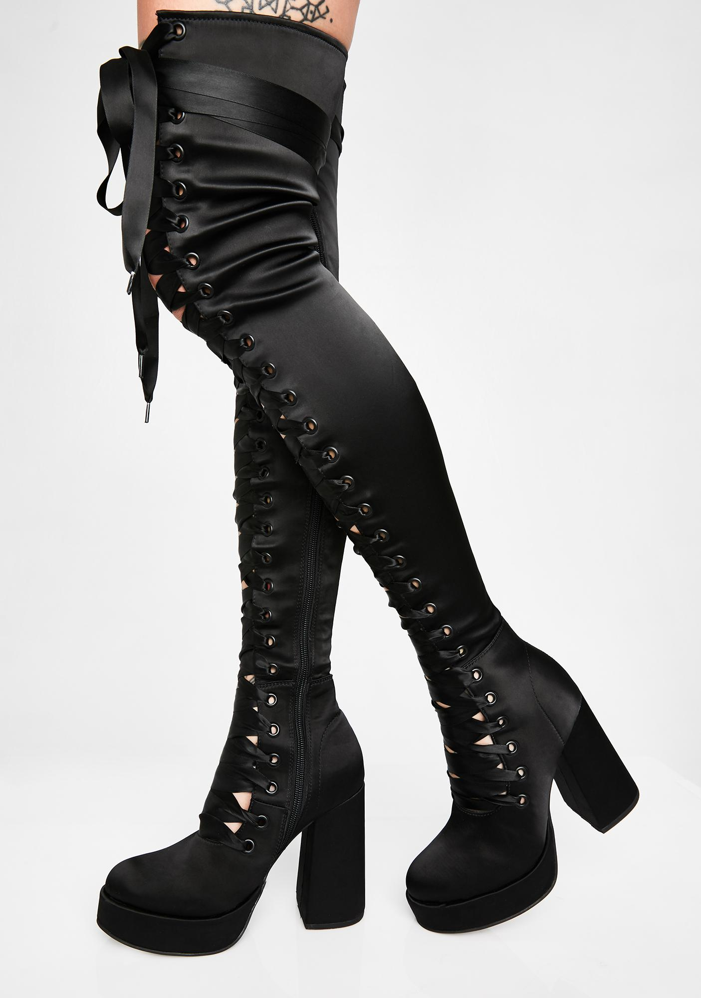 de0f71d4633 Luna Dollhouse Diva Thigh High Boots