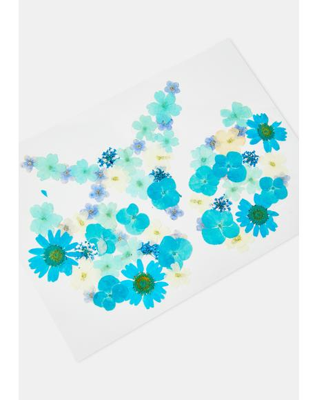 Blue & Green Flower Pasties