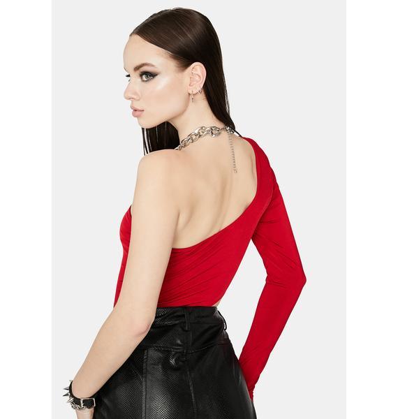 Scarlet Make A Statement Cut Out Bodysuit