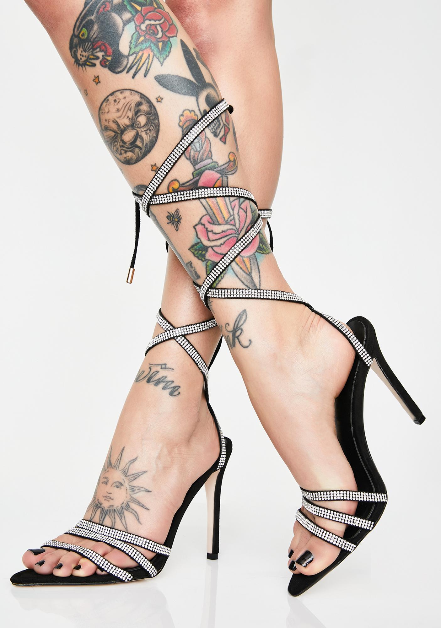 AZALEA WANG Charmed Rhinestone Heels