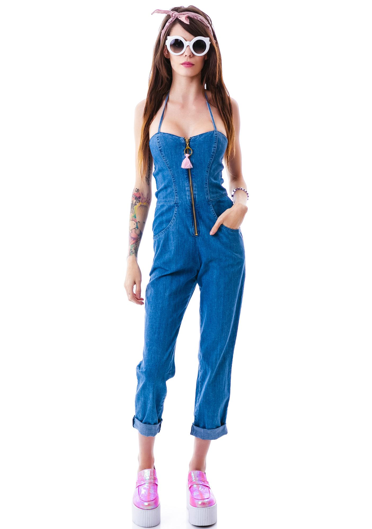 1846765e9c40d Wildfox Couture Kiera Daybreak Denim Jumpsuit