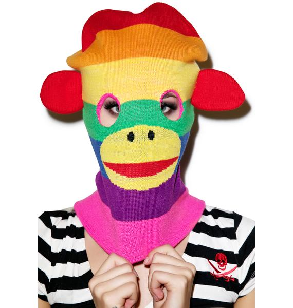 Monkey Business Knit Mask