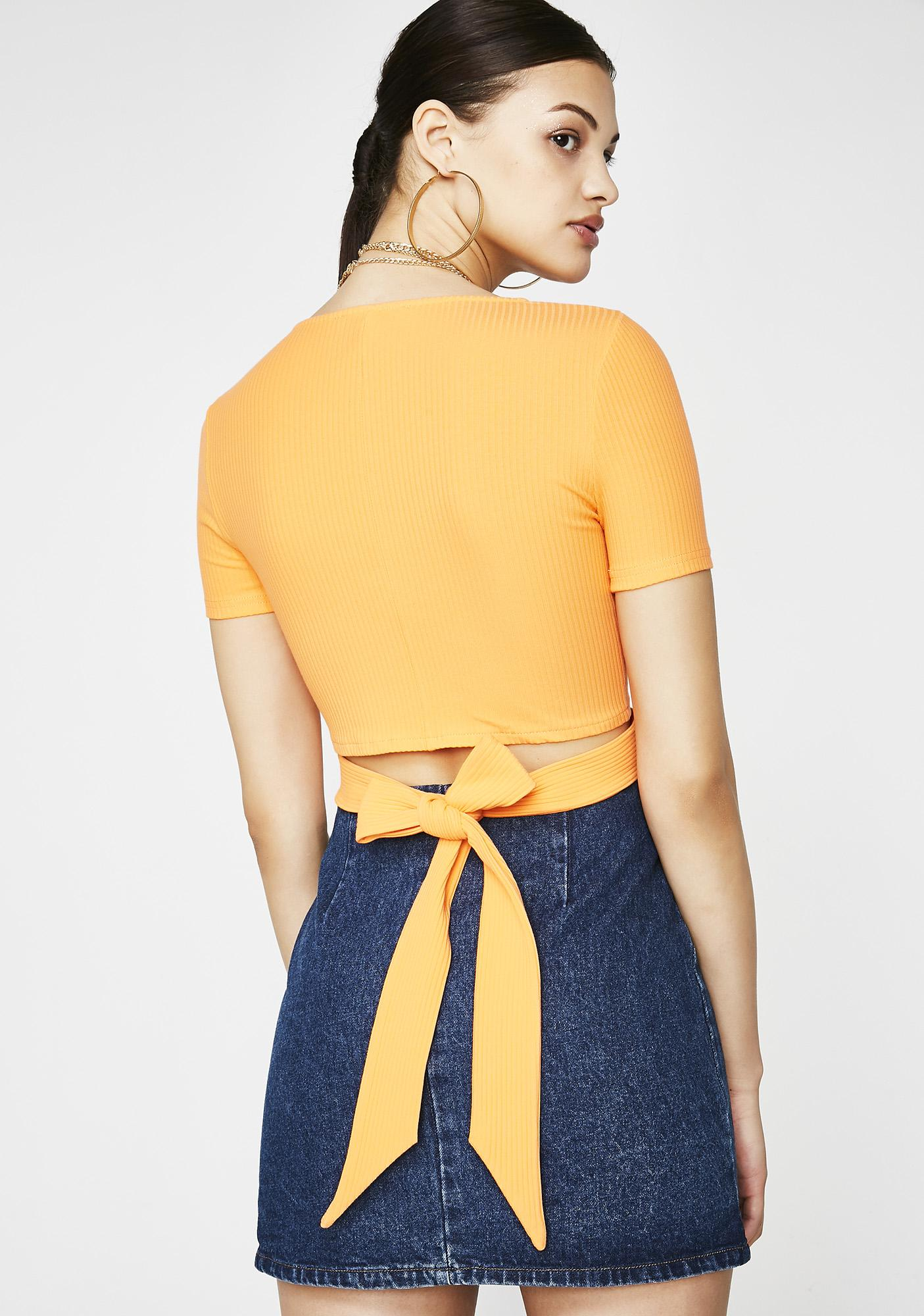 Clementine Cutie Crop Top by Dance Marvel