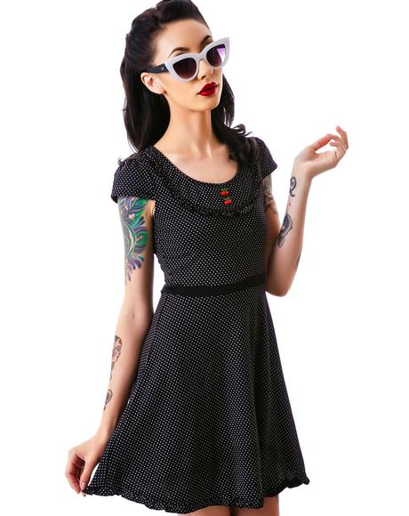 Patsy Cherry Buttons Dress
