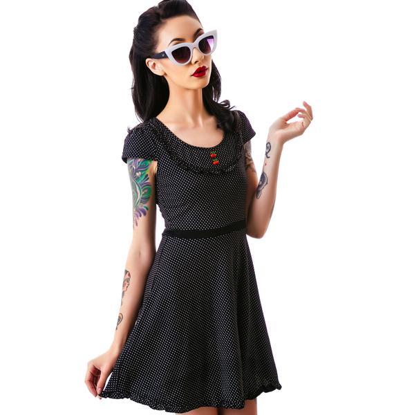 Sourpuss Clothing Patsy Cherry Buttons Dress