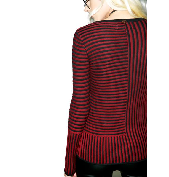 For Love & Lemons Switch Stripe Sweater