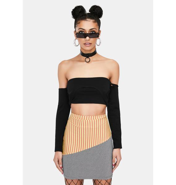 Ivy Berlin Beetlejuice Babe Striped Mini Skirt