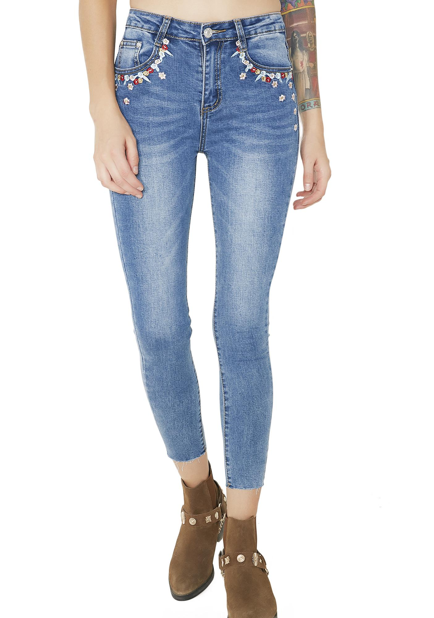 Once Upon A Dream Embroidered Jeans