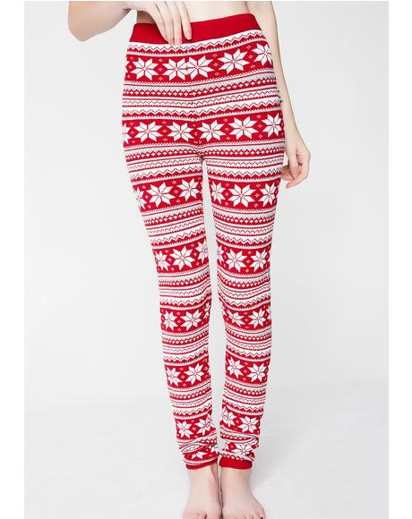 Snowflake Knit Leggings
