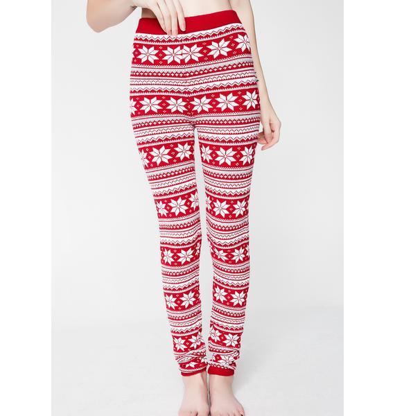 Knitty Kitty Snowflake Knit Leggings