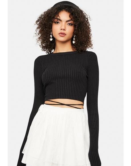 Noir Hands To Heaven Cropped Sweater