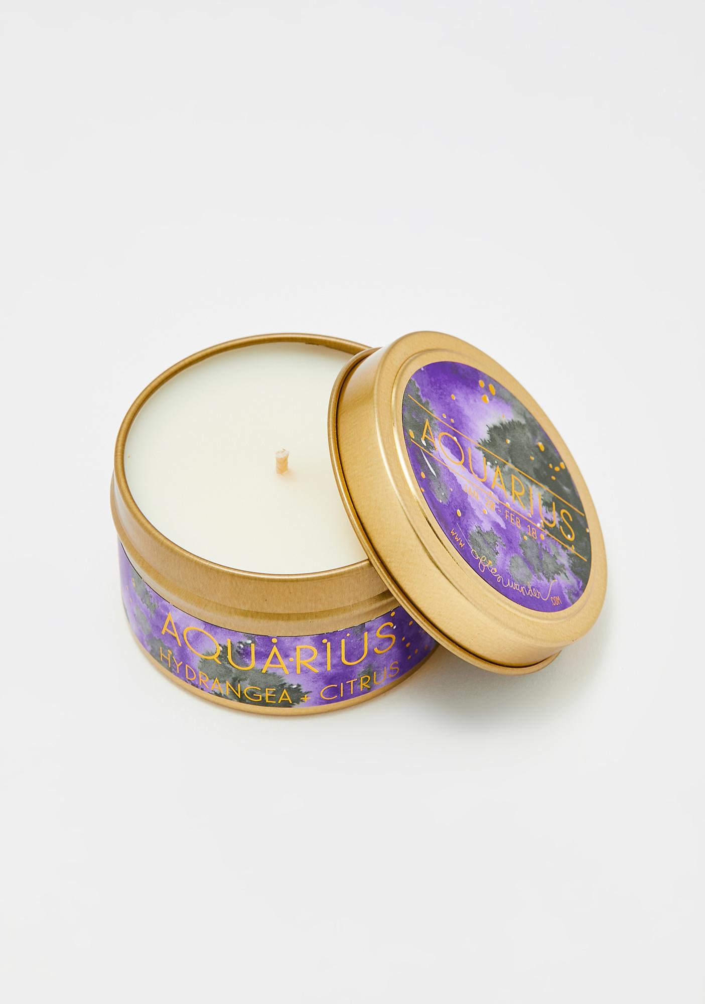 Often Wander Aquarius Travel Tin Candle