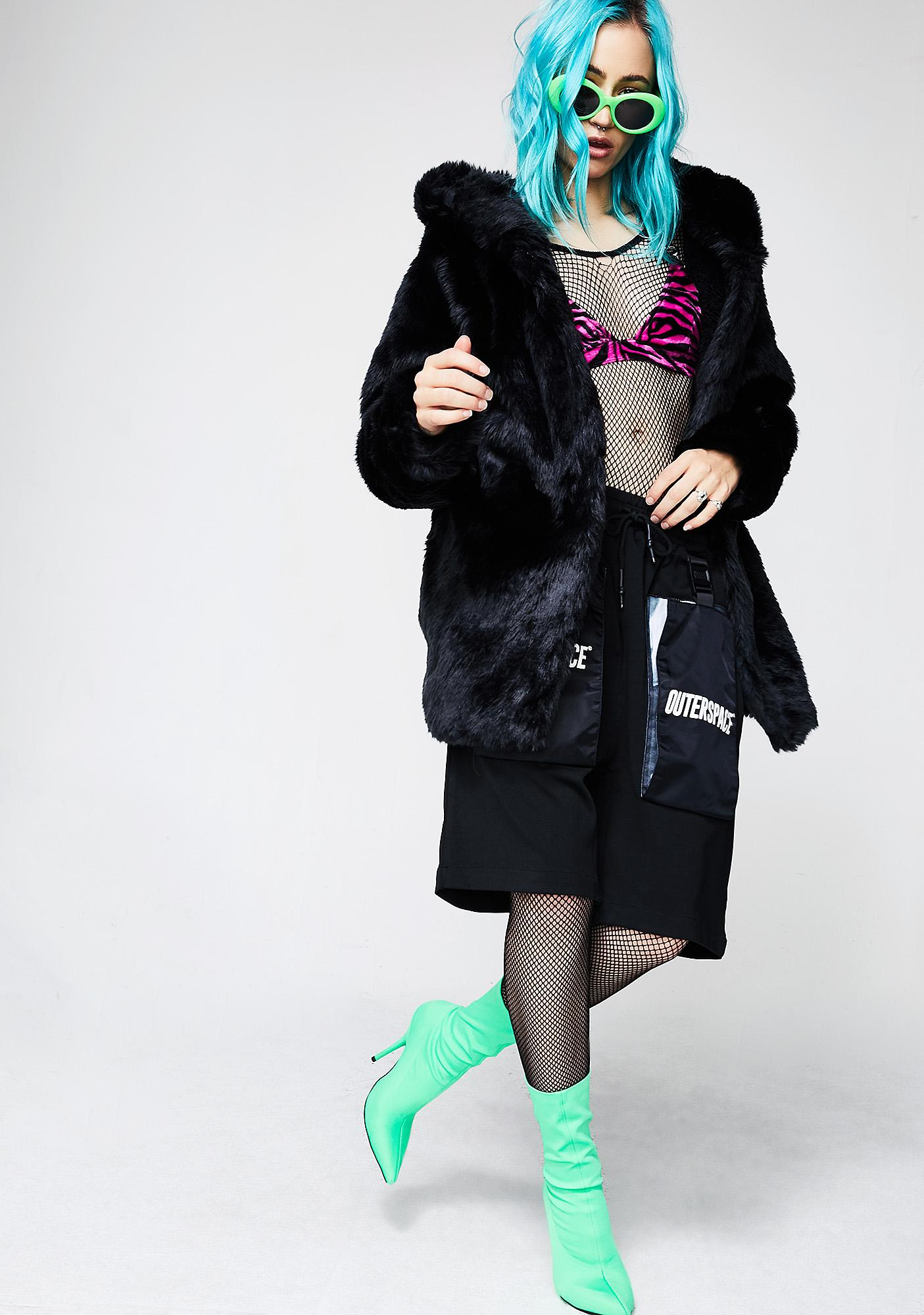 Outerspace Cat's eye Overcoat