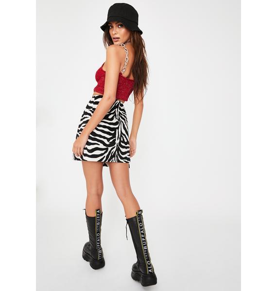 The Ragged Priest Juicy Zebra Mini Skirt
