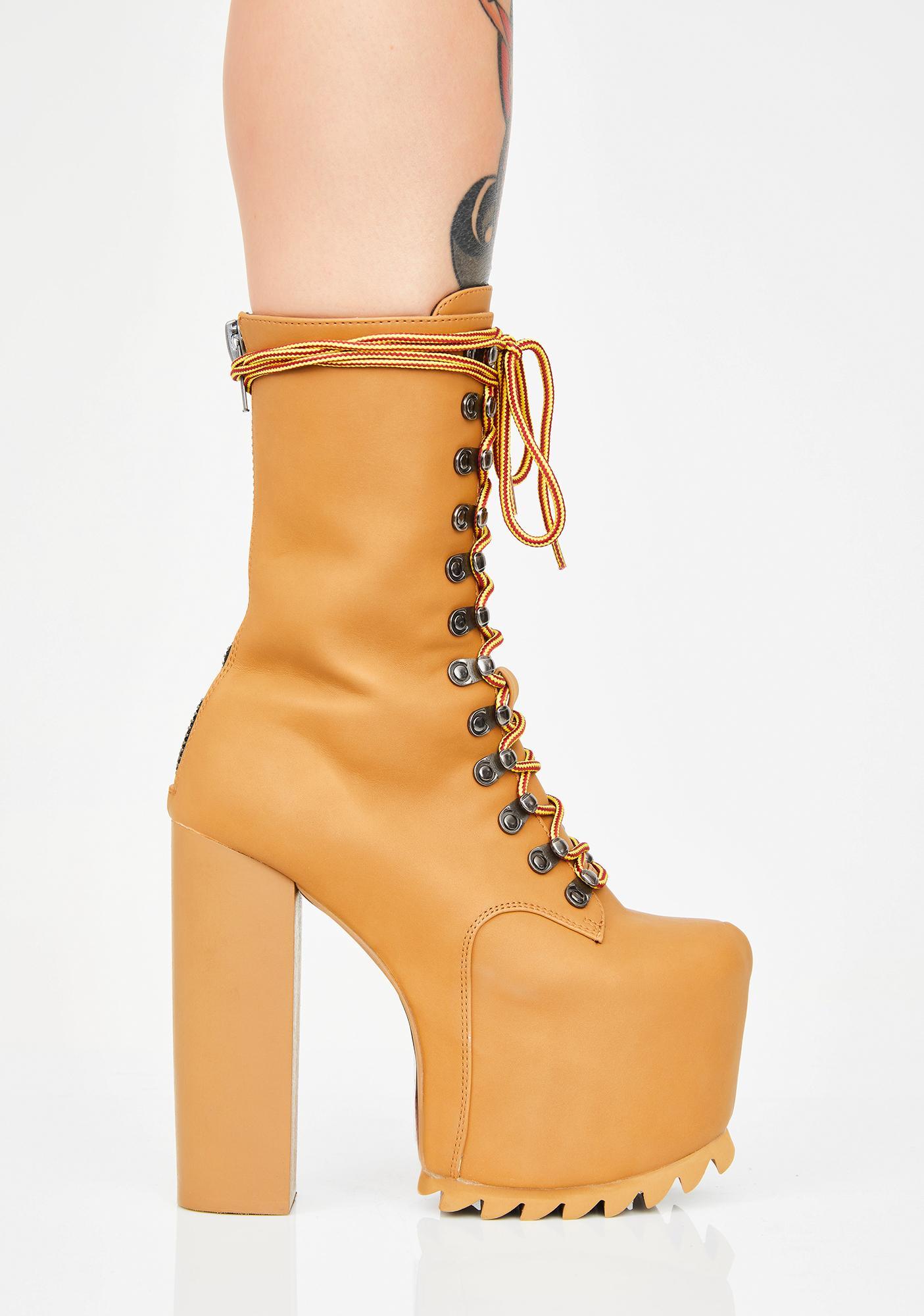 Poster Grl Haute Hikers Nola Boots