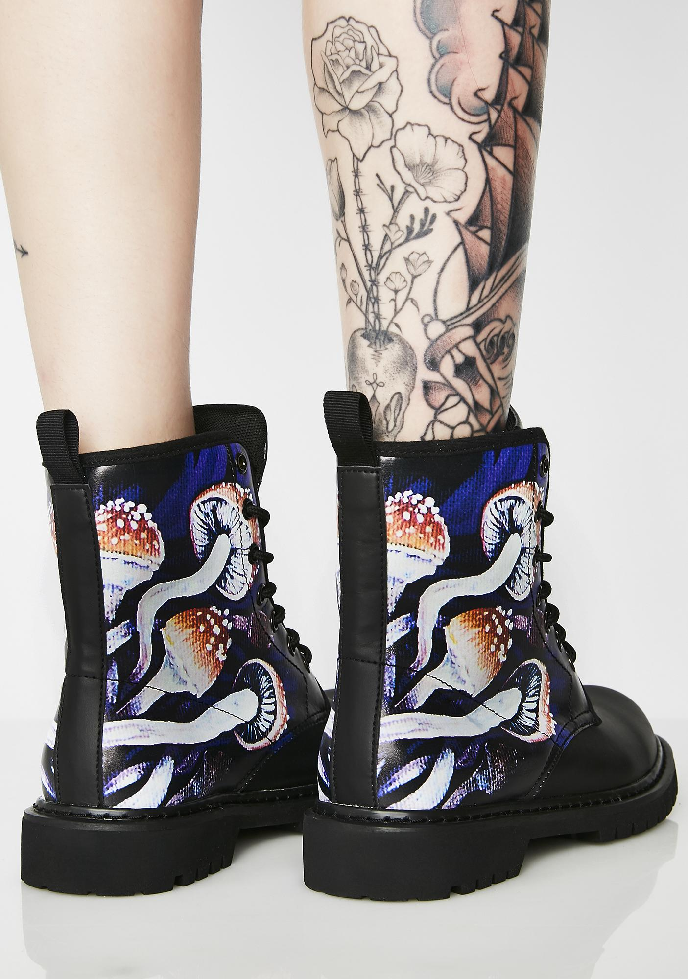 Noa Knafo Purple Shroom Vegan Boots